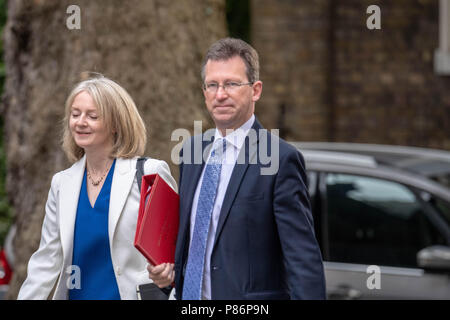 London 10th July 2018, ,Jeremy Wright, new Culture Secretary  arrives at Cabinet meeting at 10 Downing Street, London Credit Ian Davidson/Alamy Live News - Stock Image
