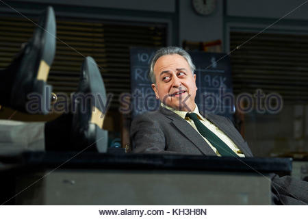Glengarry Glen Ross by David Mamet, directed by Sam Yates. With Stanley Townsend as Shelly Levene. Opens at The - Stock Image