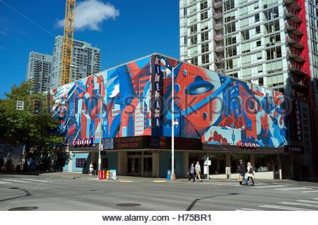 Cinerama (cinema) in 4th Avenue/Lenora Street, in Seattle, Washington State, north west USA. - Stock Image