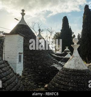The 'Trulli' houses of the town of Alberbello in the region of Apuglia (Puglia in Italian), SE Italy. - Stock Image