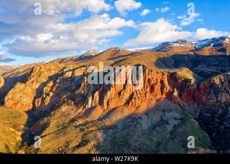 Sunset over Orange Cliffs taken in April 2019rn' taken in hdr - Stock Image