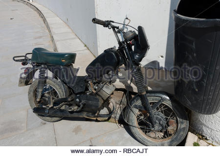 old motorcycle Portugal - Stock Image