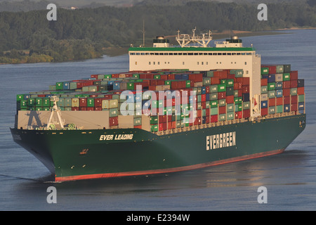 Containervessel Ever Leading - Stock Image