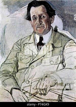 .  ... 1919 . 1919 38 Emil Cooper by Alexandr Golovin - Stock Image