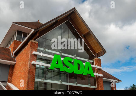 Asda Supermarket on London Road, Coventry, West Midlands, UK. - Stock Image