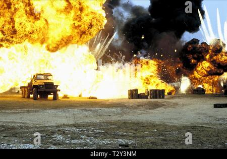 ARMY BASE EXPLOSION SCENE,  DIE ANOTHER DAY, 2002 - Stock Image