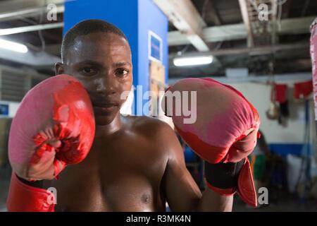 Cuba, Havana. Portrait of young boxer. Credit as: Wendy Kaveney / Jaynes Gallery / DanitaDelimont.com - Stock Image