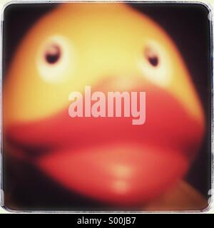 Blurred rubber duck close up - Stock Image