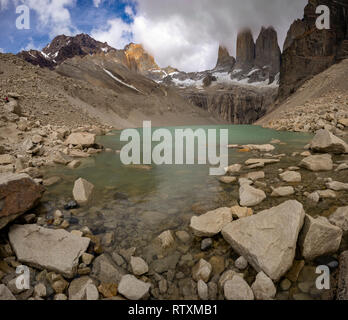 Base of the Towers, Patagonia, Chile - Stock Image