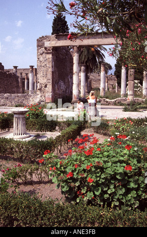 Ruins at Pompeii Italy - Stock Image