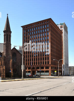 Guaranty Trust Building by Louis Sullivan and Dankmar Adler, Downtown Buffalo, NY - Stock Image
