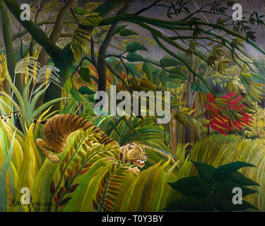 Henri Rousseau, Tiger in a Tropical Storm, Surprised!, 1891 - Stock Image