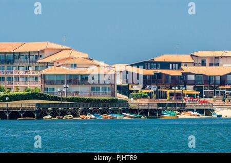 France, Landes, Vieux Boucau seaside resort, Port d'Albert distict - Stock Image