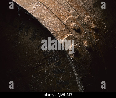 Wooden Barrel, Close-up - Stock Image