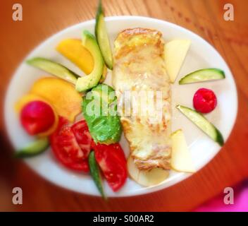 Colorful breakfast omelette. - Stock Image