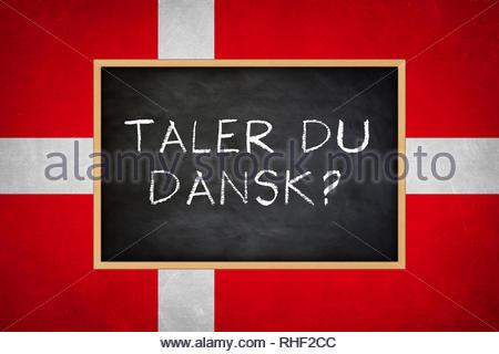 Do you speak Danish - Stock Image