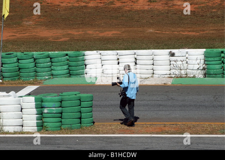 Press Photographer Working, Brasilia, Brazil, South America - Stock Image