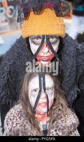 Maidenhead, UK. 27th October 2018. Maidenhead, UK - 6th Maidenhead Zombie Walk Credit: Andrew Spiers/Alamy Live News - Stock Image