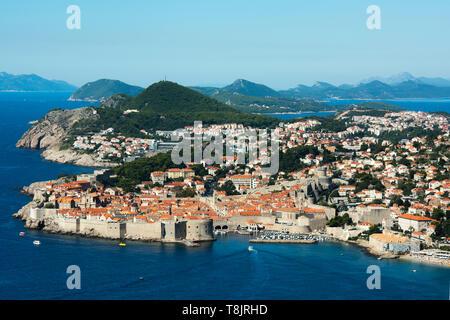 Kroatien, Dalmatien, Dubvronik, Stadtansicht - Stock Image
