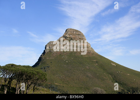 Lions Head from the Base of Table Mountain, Western Cape Province, South Africa. - Stock Image