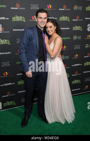 Sydney, Australia. 12th July 2019. Jack and the Beanstalk Giant 3D musical spectacular red carpet at the State Theatre. Pictured: Anastasia Feneri. Credit: Richard Milnes/Alamy Live News - Stock Image