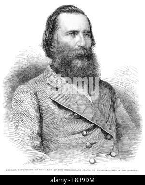 General James Longstreet of the Army of the Confederate States of America circa 1885 - Stock Image