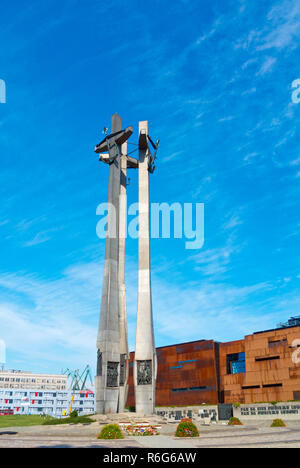 Pomnik Poleglych Stoczniowcow 1970, Monument to the Fallen Shipyard Workers of 1970, Plac Solidarnosci, Gdansk, Poland - Stock Image