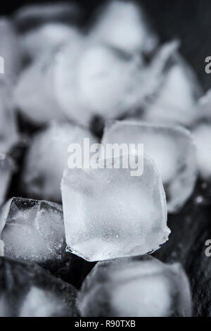 Still life of a pile of ice cubes - Stock Image