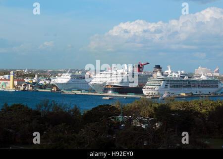 Cruise ship terminal, Nassau, Bahamas - Stock Image
