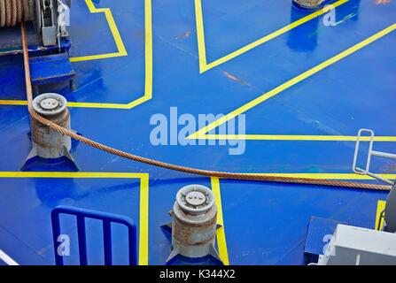 Lean bow view of ferry ship - Stock Image