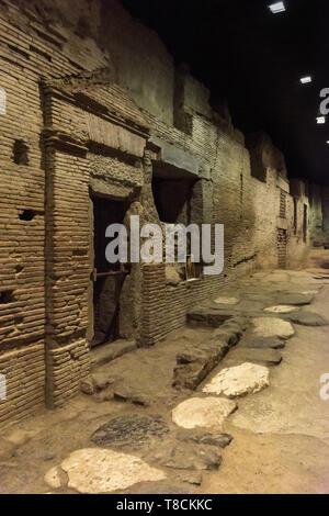 Underground Roman Market, Naples, Italy - Stock Image