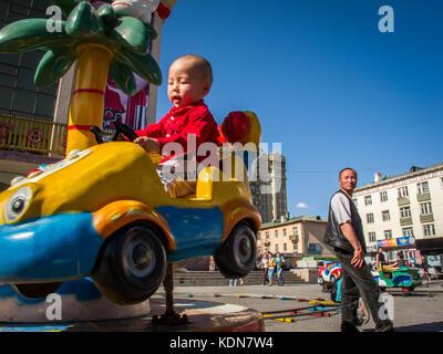 ULAN-BATOR, MAI 10 : Depuis quelques annees de nombreux maneges voient le jour a Ulan-Bator, le 10 mai, Mongolie - Stock Image