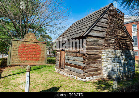 Col. Robert Patterson (1753-1827) / Patterson Cabin - Stock Image