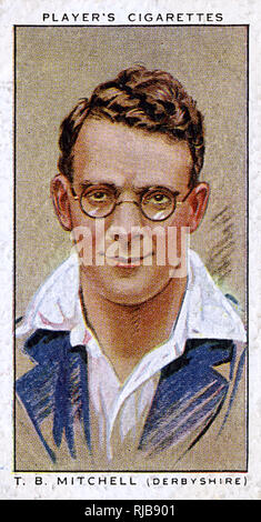 T B Mitchell, Derbyshire County and England cricketer. - Stock Image
