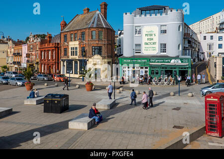 Ramsgate Seafront,October Sunshine,Ramsgate,Thanet,Kent,England - Stock Image