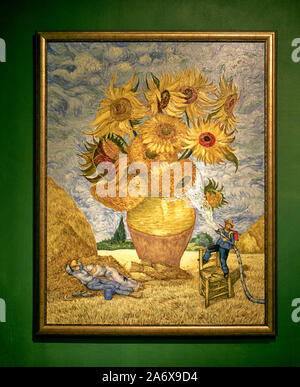 Parody Art Painting Sunflowers Vincent Van Gogh Parody Art Museum Pattaya Thailand Southeast Asia Stock Photo Alamy