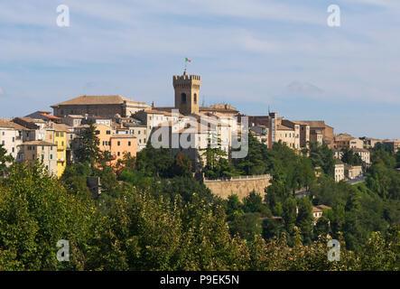 the town of Recanati, Marche region, Italy - Stock Image