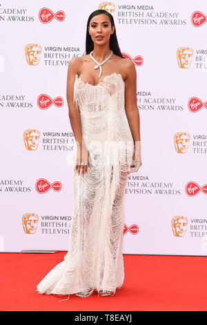 LONDON, UK. May 12, 2019: Maya Jama arriving for the BAFTA TV Awards 2019 at the Royal Festival Hall, London. Picture: Steve Vas/Featureflash - Stock Image