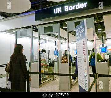 ePassport gate at an airport in Britain - Stock Image