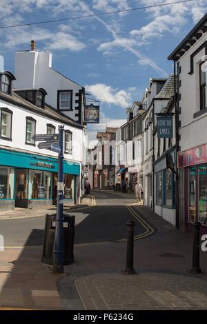 Station Road, Keswick, Lake District, UK. A traditional lake district street. - Stock Image