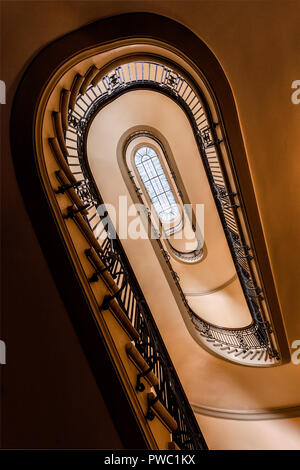 Stairway at the Minnesota State Capitol. - Stock Image