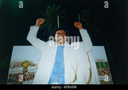 TRIPOLI LIBYA Gaddafi SHAPING REPRESENTING - Stock Image