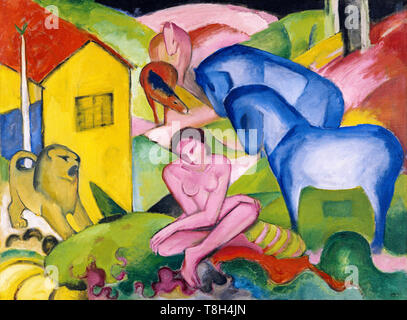 Franz Marc, The Dream, painting, 1912 - Stock Image
