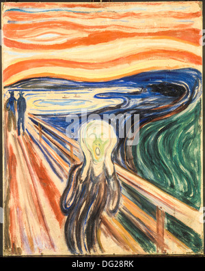 The Scream by Edvard Munch 1910 - Stock Image