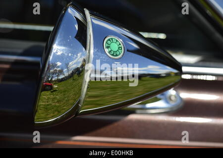 Floral Park, New York, U.S. 27th April, 2014. The Talbot Sports Mirror, with its distinctive green dot, is on a classic car exhibited at the 35th Annual Antique Auto Show at Queens Farm. Credit:  Ann E Parry/Alamy Live News - Stock Image