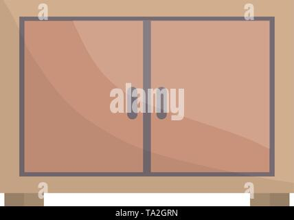 wooden drawer forniture icon vector illustration design - Stock Image
