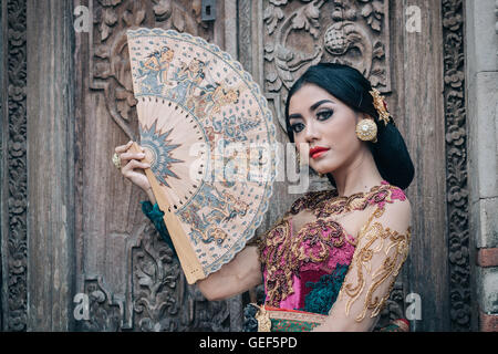 Balinese Woman in pose - Stock Image