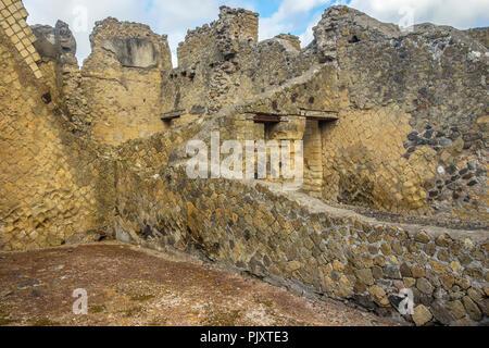 Buildings In Herculaneum Campania Italy - Stock Image