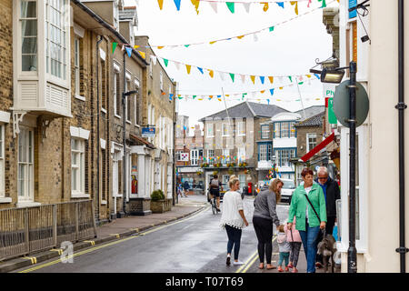 Southwold, UK - September 8, 2018 - Townscape of Southwold, a popular seaside town in the county Suffolk of the UK - Stock Image