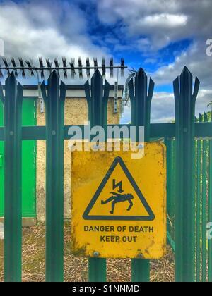 Danger of death - Stock Image